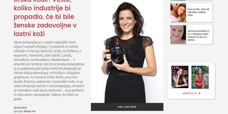 OnaPlus intervju- Urška Košir